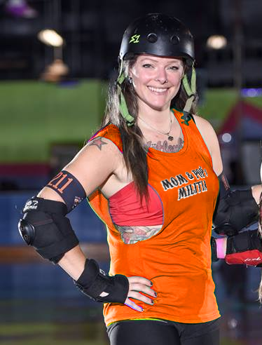 roller derby player coed